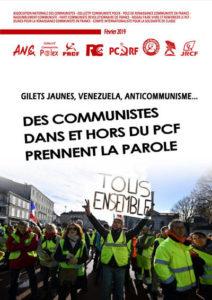 Gilets Jaunes, Venezuela, Anticommunisme … des communistes dans et hors du PCF prennent la parole
