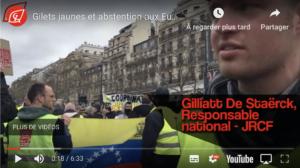 Gilets jaunes et abstention aux Européennes : entretien avec le responsable des JRCF !