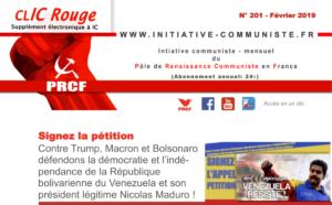 CLIC Rouge 201 – votre supplément électronique gratuit à Initiative Communiste [février 2019]