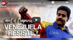 """""""défendre le Venezuela c'est se défendre"""" – F Kassem #pastoucheauvenezuela #handsoffvenezuela"""