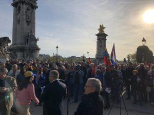 La France des travailleurs manifeste sa solidarité avec le Venezuela bolivarien #handsoffvenezuela