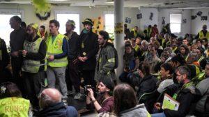#acteXXI Les Gilets jaunes marchent contre la finance et réunion de l'assemblée des assemblées à Saint- Nazaire