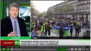 Pour satisfaire les revendications des #giletsjaunes, il faut sortir de l'Union Européenne et de l'Euro : Aymeric Monville, invité de #RT