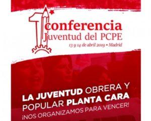Les JRCF invités du 1er congrès des jeunes communistes espagnols du PCPE