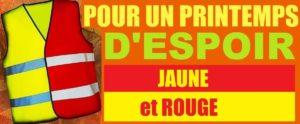 Front populaire pour un printemps d'espoir rouge et jaune, tous ensemble