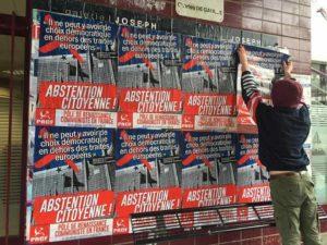 Campagne pour le Frexit progressiste, les militants du PRCF et des JRCF en action !