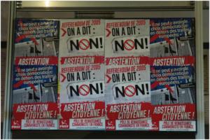 Collages, tractages, débats : le PRCF en campagne pour l'abstention citoyenne !