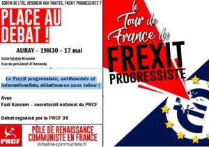 17 mai, la Bretagne débat du Frexit progressiste  [Auray] #TourdeFrance du #Frexit
