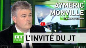 """#GiletsJaunes :  """"au delà de Macron, il faut s'attaquer au carcan européen"""" Aymeric Monville sur RT France #Vidéo"""