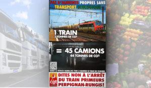 Signez la pétition pour défendre le train des primeurs et éviter 20 000 camions.