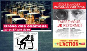 #17Juin #grèveExamens 2019  Blanquer panique face à la mobilisation et appelle à la censure