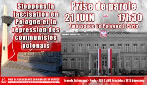 Stop à la fascisation et à la criminalisation du communisme en Pologne ! #21juin