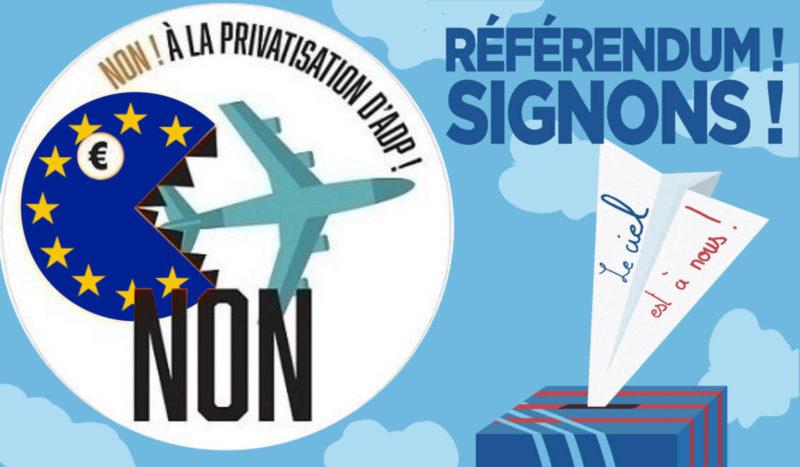 Referendum contre la privatisation de Aéroport de Paris, le recueil des 4,7 millions de signatures est lancé ! SIGNEZ ! #ADP #RIP dans - DROITS