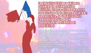 """Appel : """"Le 14 juillet doit redevenir le fête de la souveraineté nationale et populaire"""" – L. Landini, M. Debray, P. Pranchère, G. Blache, G. Gastaud, O. Delorme, A. Lacroix-Riz #14Juil"""