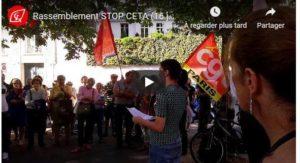 Rassemblement stop CETA à Paris : l'intervention du PRCF en vidéo !