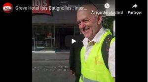Hotel Ibis Batignolles : entretien avec la CGT HPE