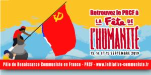 La préparation du stand du PRCF à la fête de l'Huma 2019, c'est parti !