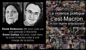 La violence politique, c'est Macron et son régime antipopulaire!