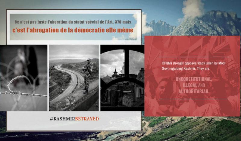 Inde : le régime ultra- nationaliste veut faire taire les communistes, voix pour la paix au Cachemire !