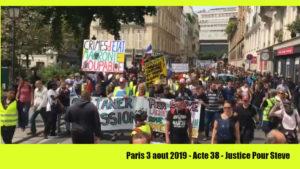 #Acte38 des manifestations contre les #violencespolicières du régime Macron. #JusticePourSteve