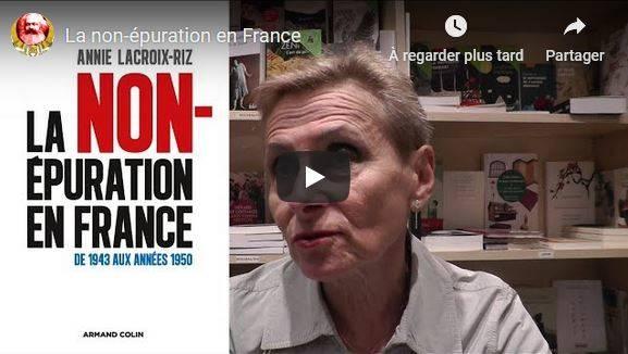 Annie Lacroix-Riz à Nice pour une conférence sur la Non épuration – 15/11/18h