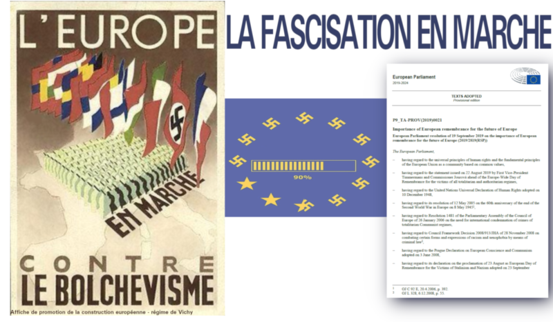 Indignation générale après le vote révisionniste du Parlement européen, réécrivant l'histoire, réhabilitant le fascisme !