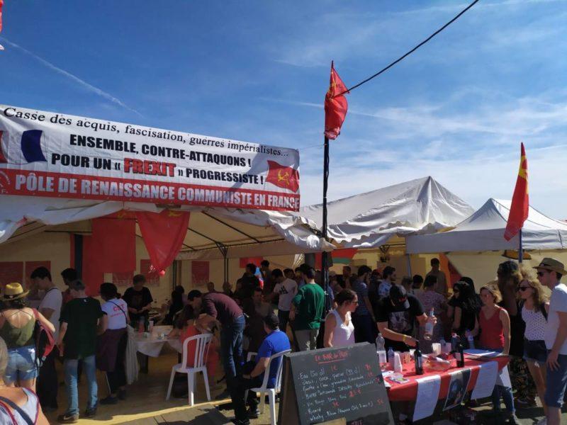 Avec le stand du PRCF les communistes à l'offensive à la fête de l'Humanité 2019.