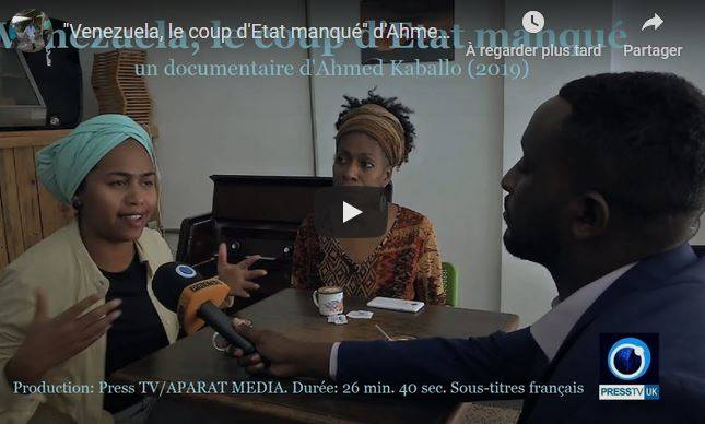 """""""Venezuela, le coup d'Etat manqué"""", le nouveau documentaire d'Ahmed Kaballo (2019) sous-titré en français"""