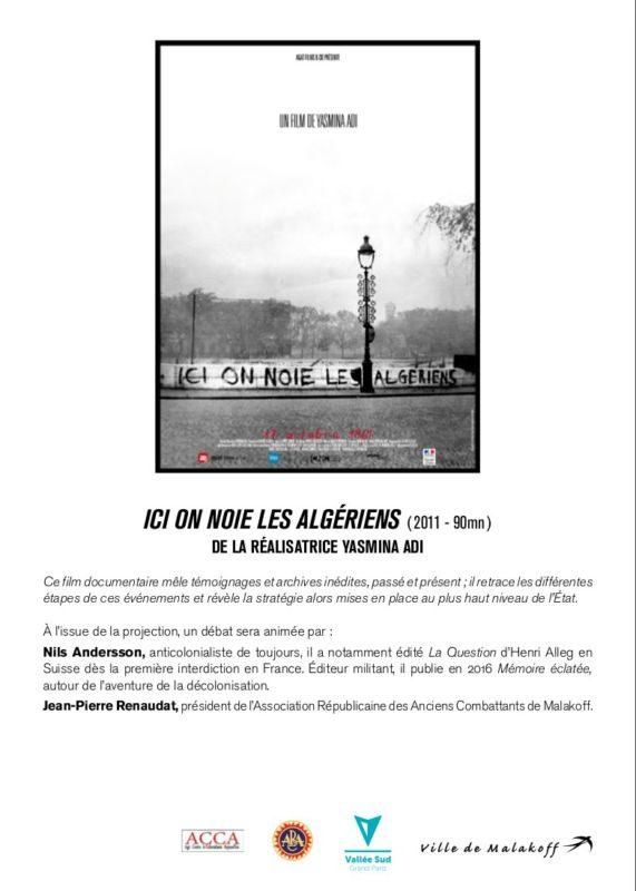 """"""" Ici on noie les Algériens"""" … Pour ne pas oublier le 17 octobre 1961 !"""
