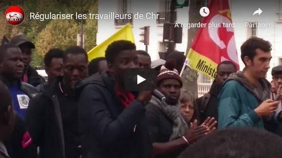 Le PRCF mobilisé pour la régularisation des travailleurs sans papiers de Chronopost Alforville (94) #vidéo