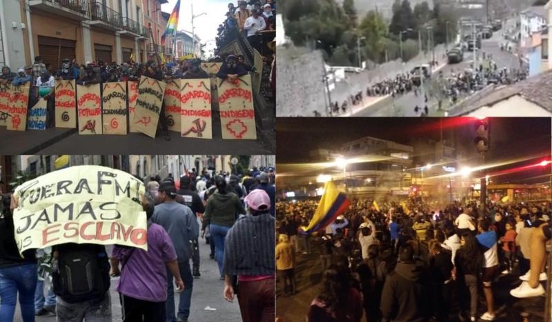 Equateur : le peuple dans la rue pour chasser Moreno et le FMI, malgré la répression militaire et le couvre feu !