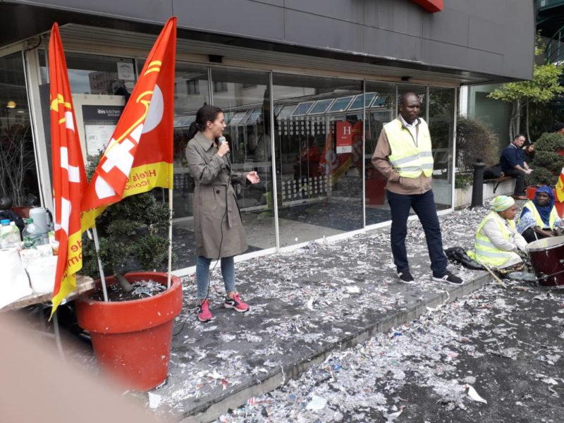 Soutien aux femmes de chambre de l'hôtel Ibis Batignolles – #JeBoycotteAccor #vidéo