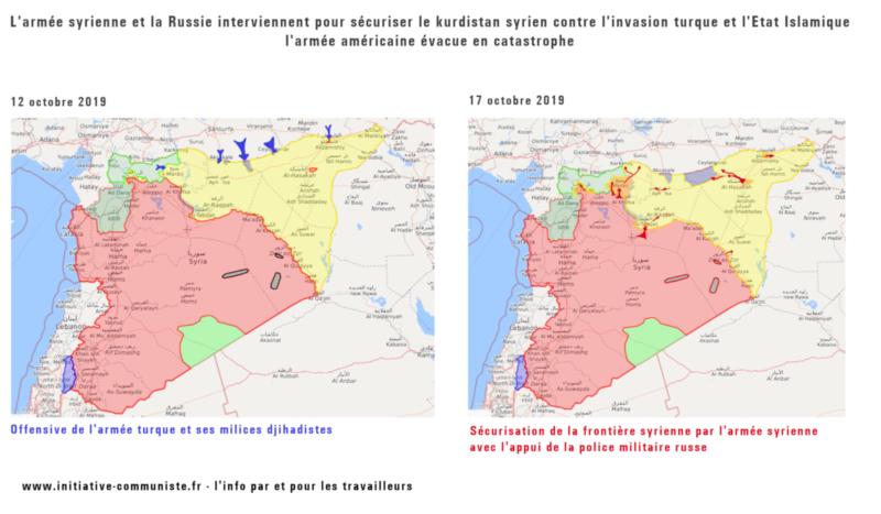 L'armée syrienne et la Russie sécurisent le Kurdistan syrien contre l'invasion turque !