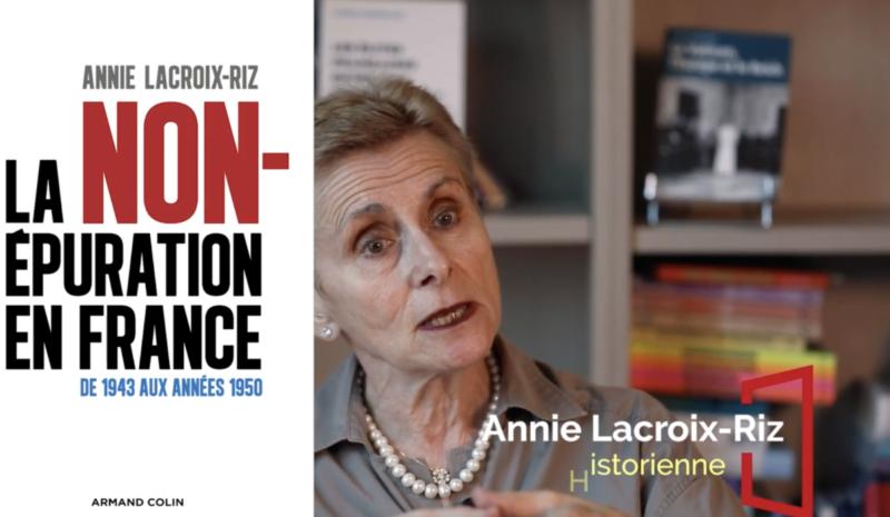 """Annie Lacroix-Riz, dans """"Droit de suite"""" sur Public Sénat, lundi 7 octobre (21h30-22h), parlera de la non-épuration !"""