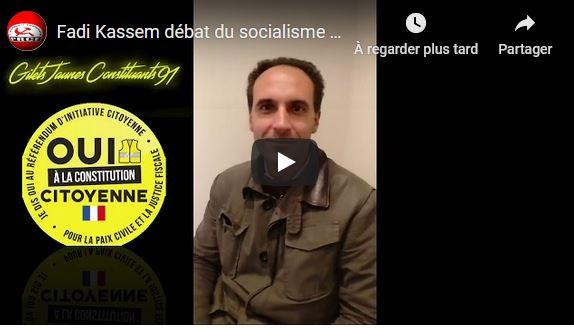 Vidéo : Fadi Kassem débat du socialisme avec les #giletsjaunes constituants