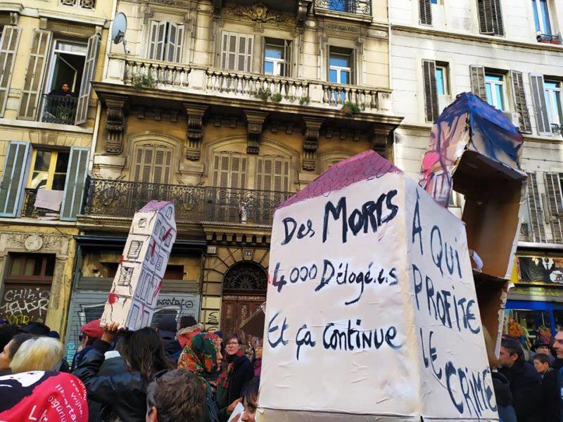 #5nov Marseille dénonce le crime du Capitalisme un an après les 8 morts du mal logement, rue d'Aubagne.
