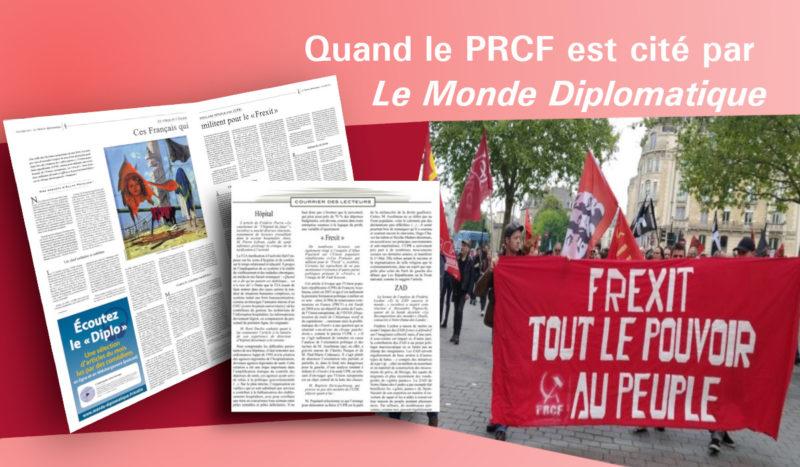 Frexit : quand le PRCF est cité par Le Monde Diplomatique !