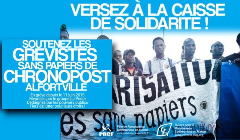 Solidarité avec les travailleurs sans-papiers de Chronopost