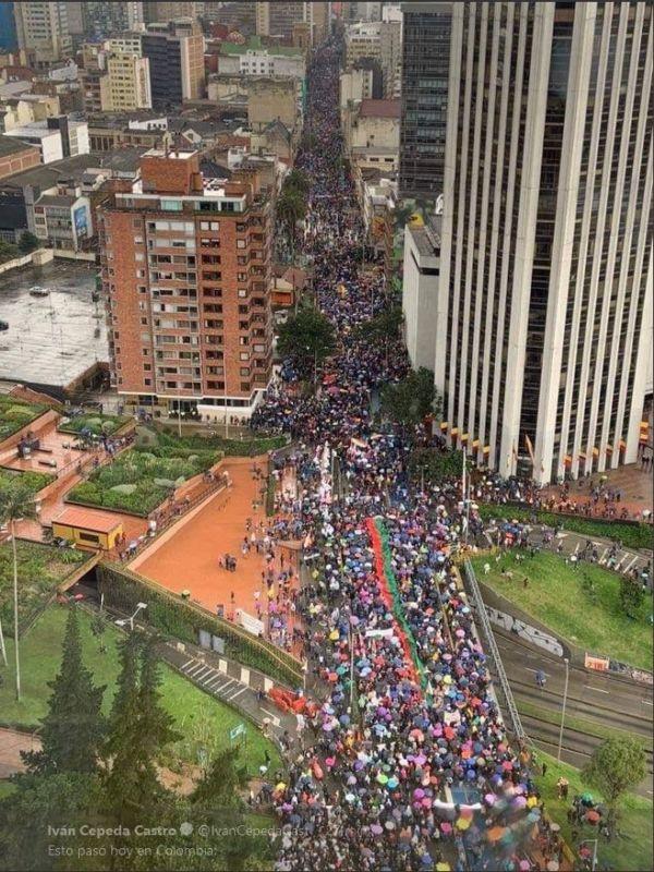 En Colombie, partie de la défense des retraites, la grève générale continue !