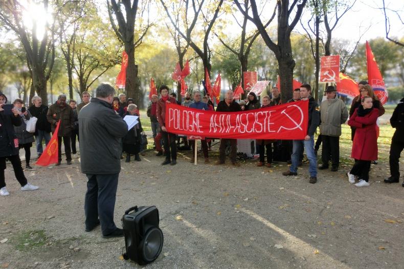 9 novembre, manifestation contre l'eurofascistation et l'anticommunisme .