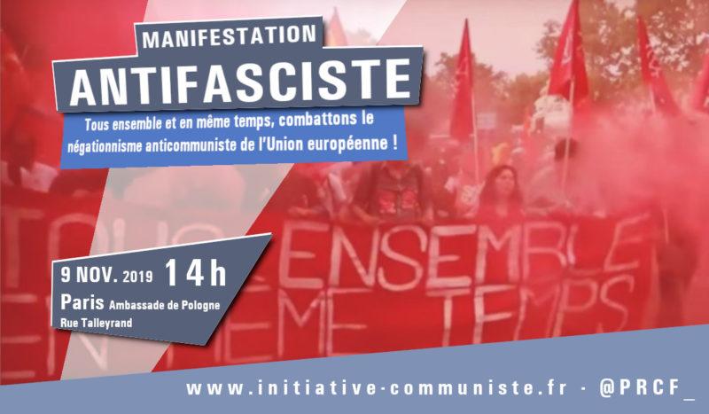 """Anticommunisme et eurofascisation : entretien avec F Kassem. """"tous ensemble, manifestons à Paris le samedi 9 novembre"""""""