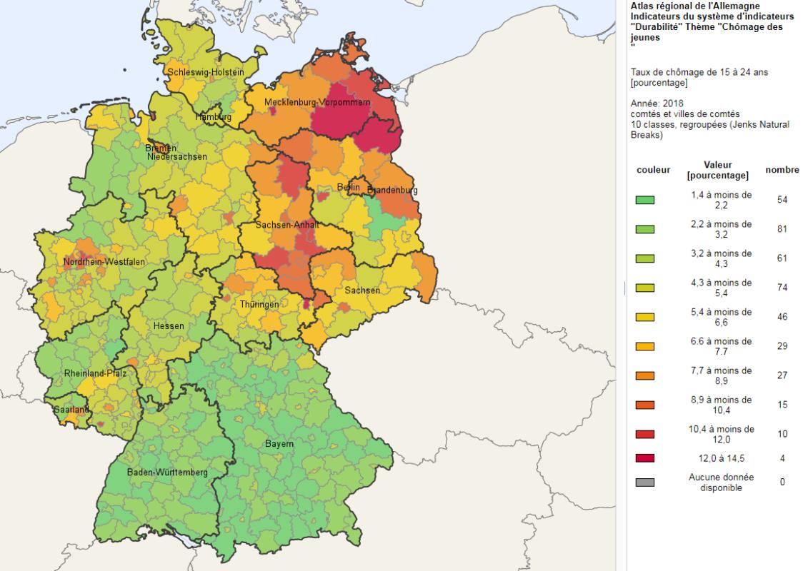 allemagne de l est carte RDA : 30 ans après, le bilan globalement négatif de la chute du