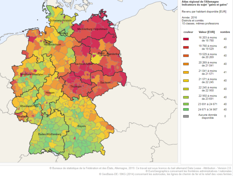 RDA : 30 ans après, le bilan globalement négatif de la chute du mur de Berlin en cartes et en chiffres #9novembre #9novembre1989
