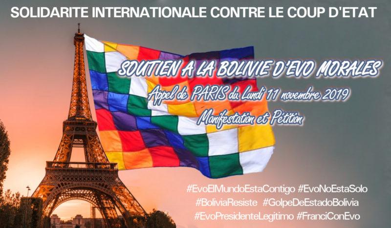 Contre le coup d'Etat en Bolivie, la solidarité s'organise.