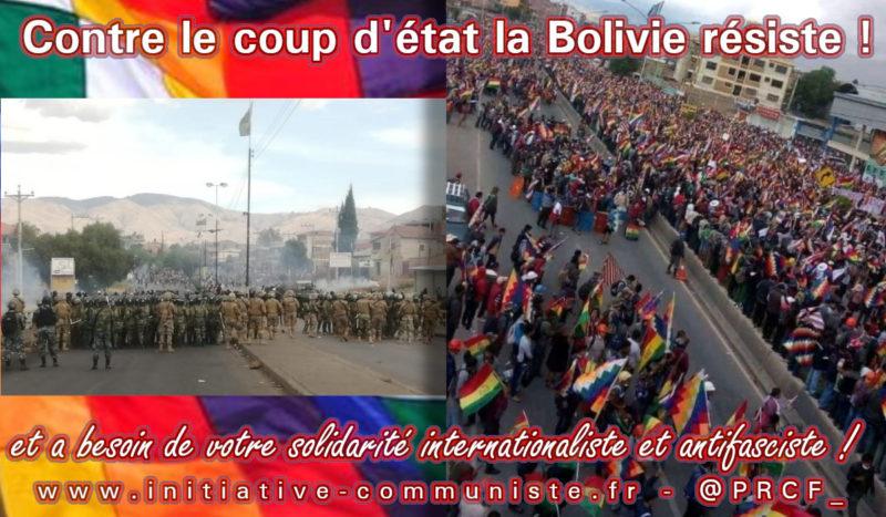 Bolivie : résistance populaire au coup d'état dans la rue et au parlement !