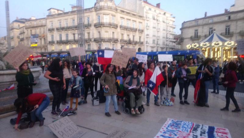 Liban, Chili… le PRCF présent dans les manifestations de solidarité internationale.