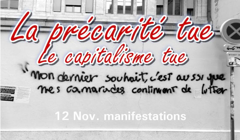 #LaPrécaritéTue appel à manifester devant les CROUS ce 12 novembre – #JRCF