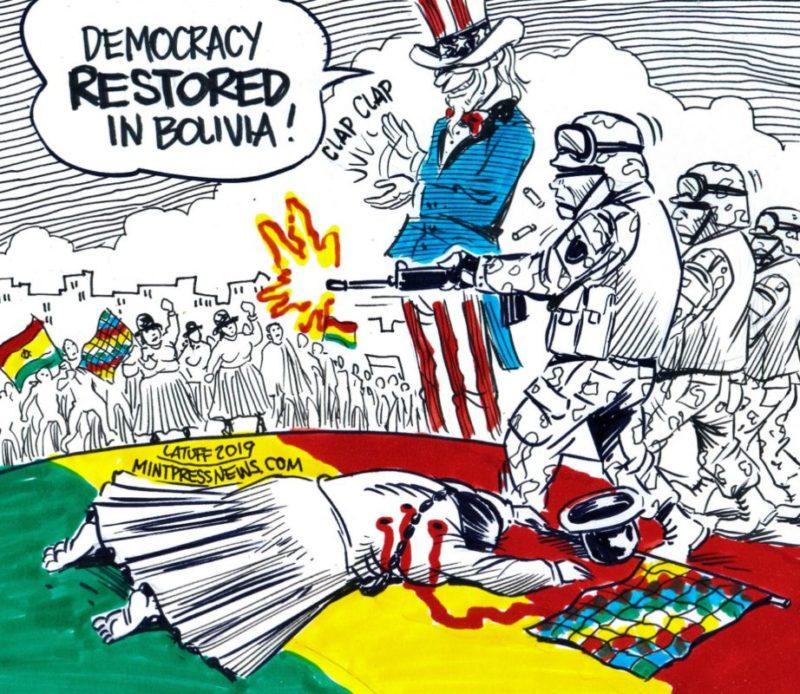"""Bolivie """" le coup d'état a été préparé à l'ambassade américaine"""" !"""