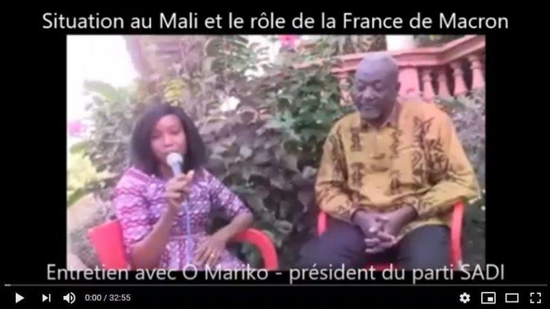 Situation du Mali, rôle de la France : entretien avec Oumar Mariko, président du parti SADI #vidéo