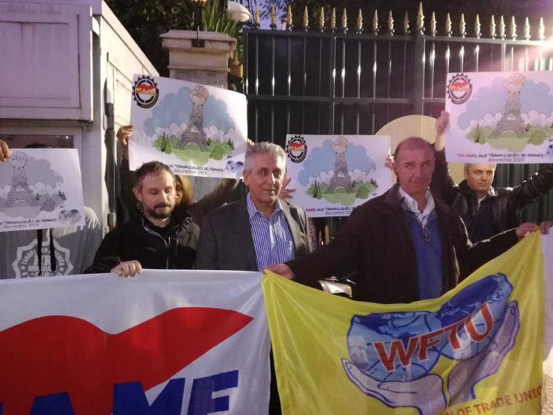 La Fédération Syndicale Mondiale intervient pour demander le retrait du #PlanMacron et soutenir les travailleurs en France. La CES présidée par Berger muette.
